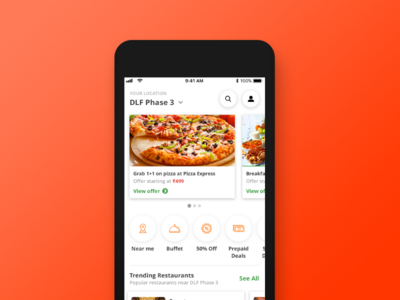 Restaurant Table Reservation - Home Screen reservation table booking restaurant ios iphone application app mobile