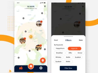 Map & Filter Screen