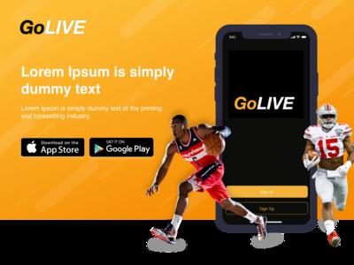 GoLIVE Sports Web Page