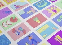 Collection of Illustrations flat illustrations digital art flat illustration