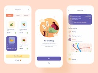 Grocery Delivery App Design food delivery app shop service order meat ui app design online shop food app product ecommerce onboarding screen card clean ios minimal design delivery app grocery delivery grocery app
