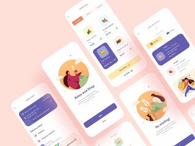 Grocery Delivery UI map ui  ux ios platform ecommerce order shopping store food delivery food app product service delivery app grocery delivery grocery design card clean minimal app design mobile app design