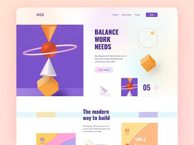 SAAS Platform ui design portfolio designer seo cms crm agency marketing technology software service platform saas clean layout homepage web design design website landing page