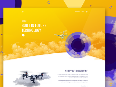 Drone Landing Page sketch responsive quadcopter drone landing page technology fly camera unmanned aerial vehicle web design drone ux ui