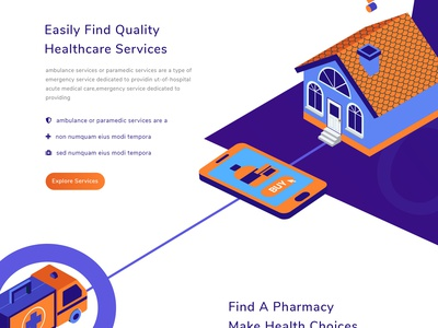Medical Platform Landing Page landing page ux ui web medical isometric ios illustration health gradient doctor app