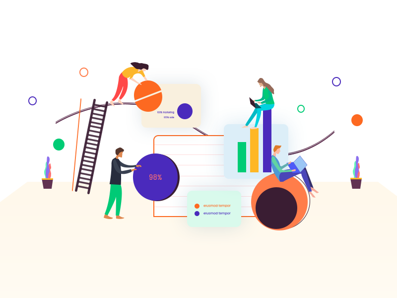 Market Analytics - Illustration by Zuairia Zaman on Dribbble