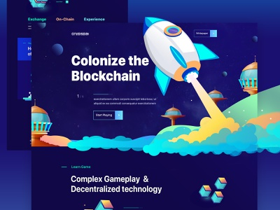 Crypto Game Landing Page webapplication ico 2019 trends uitrends landing page website best design new trend illustrator illustration game gambling blockchain blockchain game ethereum bitcoin crypto exchange crypto trading crypto wallet cryptocurrency