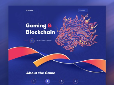 Blockchain & Gaming Website dark website 2019 trend 3d illustration website best design new trend landing page concept ico ethereum bitcoin gambling game blockchaintechnology blockchain game cryptocurrency app crypto trading crypto exchange crypto wallet cryptocurrency