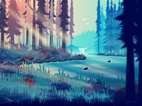 By The Lake_Illustration
