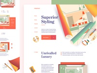 Interior Design Agency Website