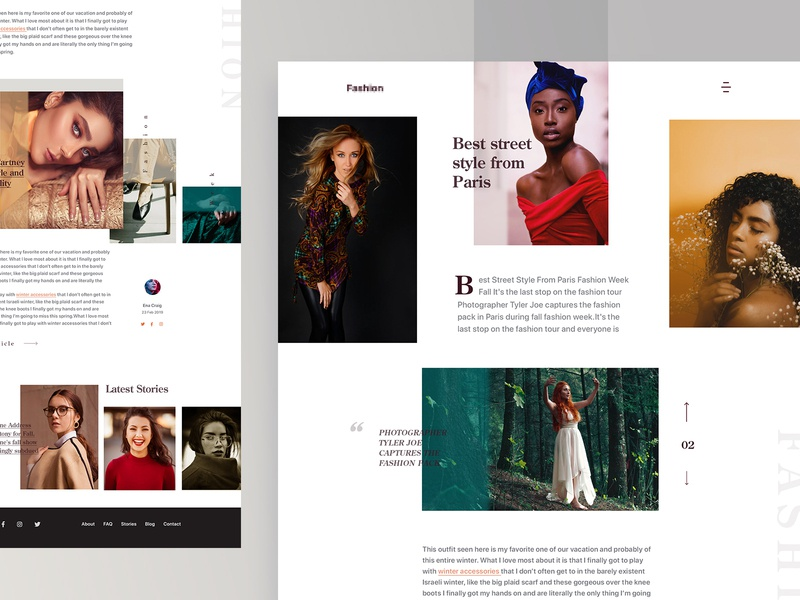 Fashion Article Page branding new trend layout card minimal blog clean ecommerce website ui  ux design landing page fashion website photography website category page news website magazine travel blog fashion blog fashion article page travel article page article page blog