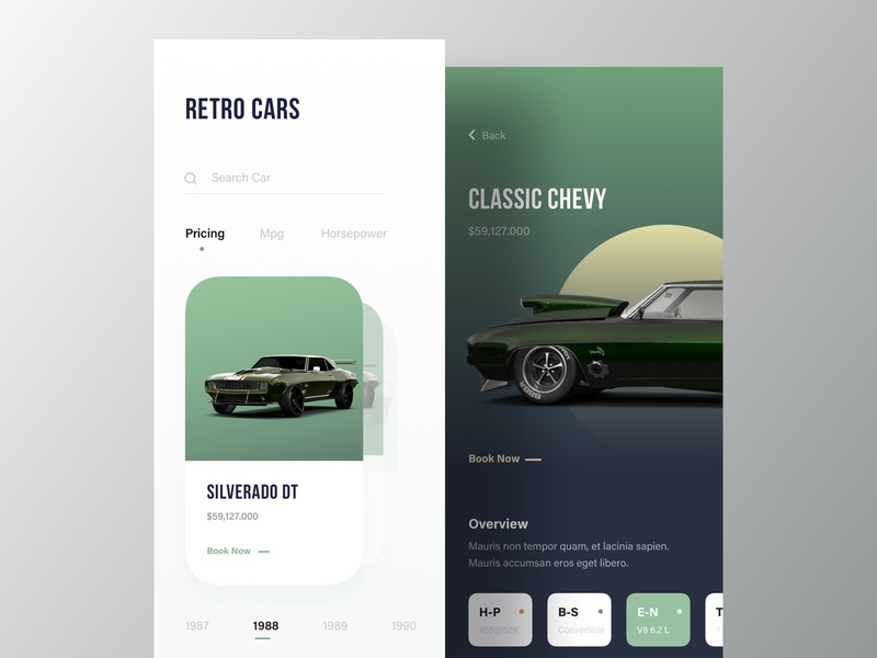 Retro Car Shop App