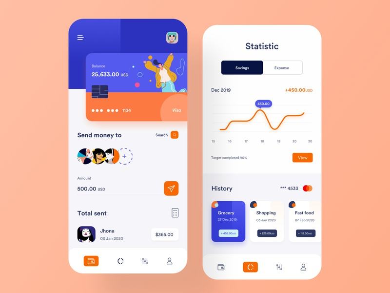 Banking App UI banking savings investment product design fintech money app transaction payment design ui  ux minimal clean credit card debit card card ios mobile app design wallet app banking app finance app