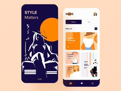 Clothing Store App UI