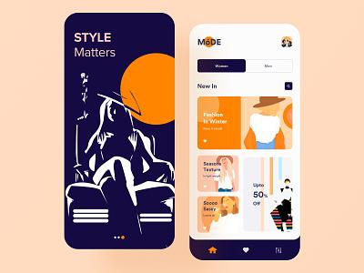 Clothing Store App UI buy illustration festival women dresses shopping app store card ios ui  ux design mobile app design application style lifestyle fashion ecommerce app clothing brand boutique