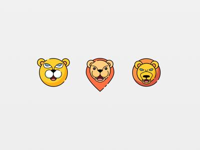 Lion sketch line illustration animation