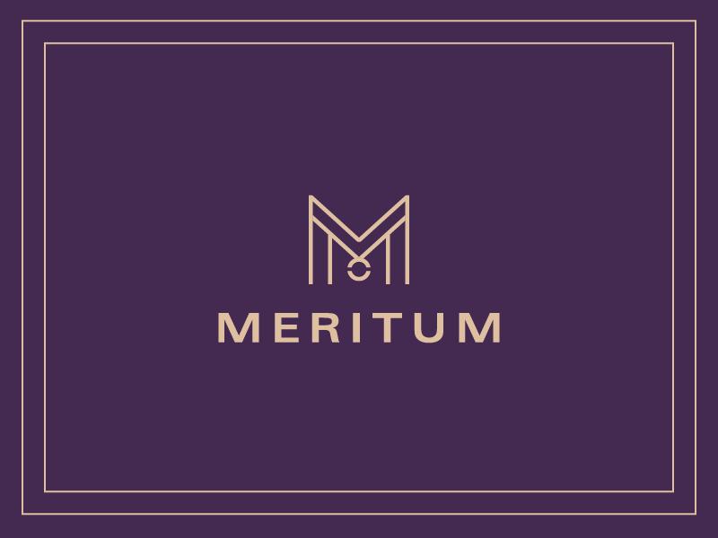 Meritum | Logo logo merit m visual identity medal graphic design design brand