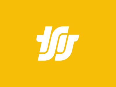 TSG Monogram logo icon letters monogram yellow