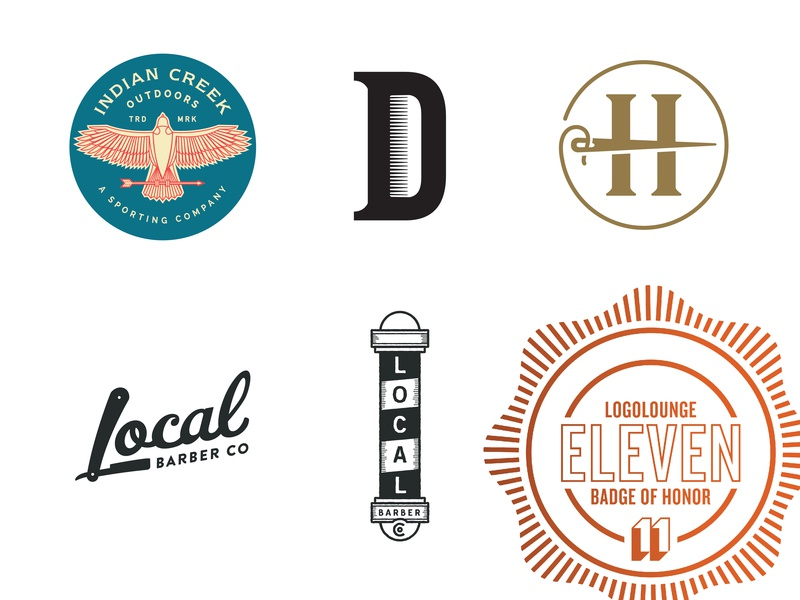 LogoLounge 11 Winners needle outdoor barbershop awards winner logo logolounge