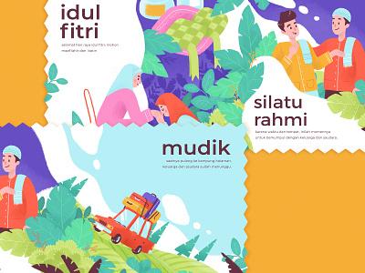 Eid Mubarak design illustration