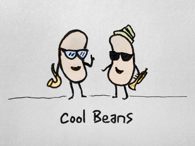 Cool Beans cool beans drawing humor sketch pen ink