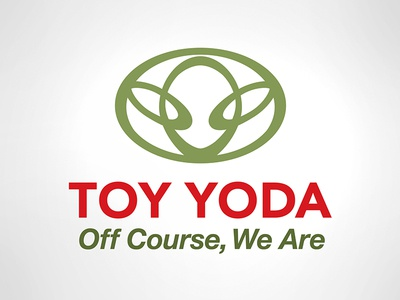 What did Yoda say when I asked if we were lost? logos branding yoda star wars toyota brand mashup
