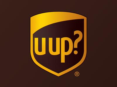u up? logos branding design parody ups brand mashup