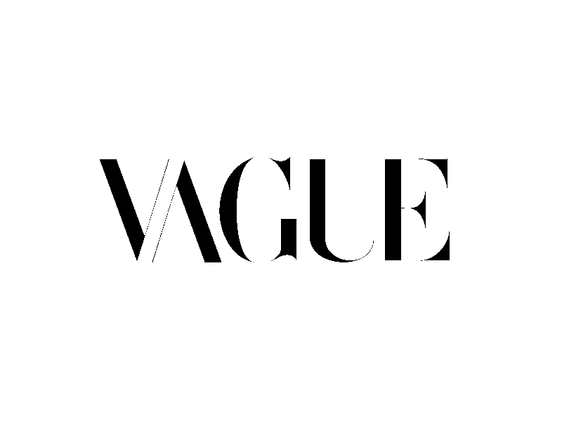 V A G U E humor vogue advertising logo design branding brand mashups brand mashup