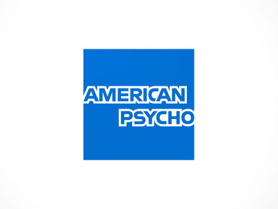 American Psycho design branding american psycho american express parody humor logo brand mashups brand mashup