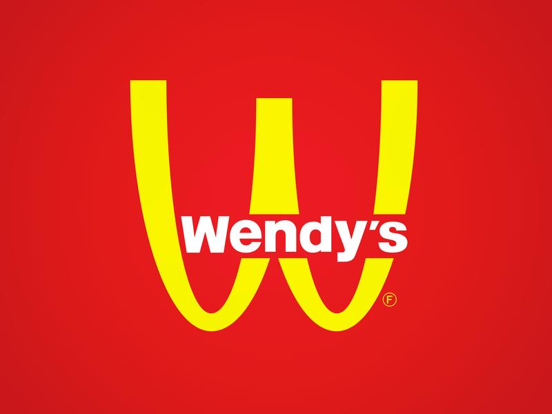 Winnie Dee's wendys mcdonalds logo parody branding brand mashups