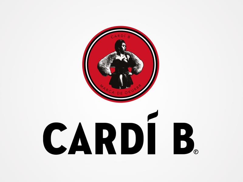 Bacardí parody logo branding humor cardi b bacardi brand mashup