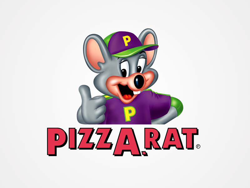 Where Mice Can Grab A Slice pizza mouse parody branding chuck e cheese brand mashup