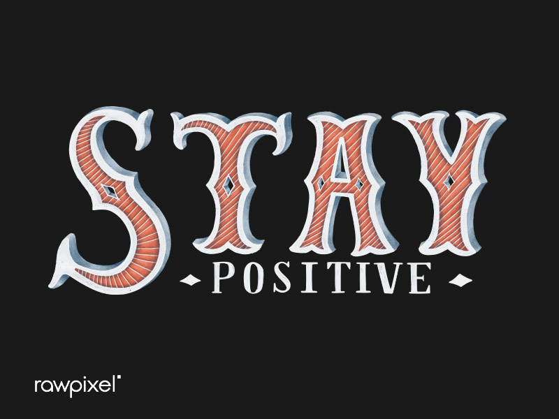 Stay Positive procreate ipadpro words typography calligraphy vector