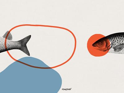 Vintage fish frame art background design copyspaces frame vintage vector drawing vintageillustration graphic illustration