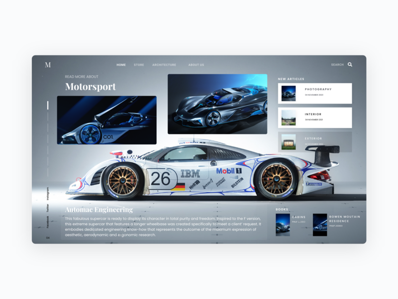 Supercars Landing Page