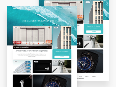 Manual Magazine/Blog Content Layout