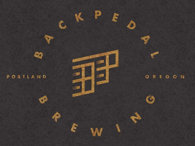 Backpedal Brewing Company  logo beer brewing bike bicycle