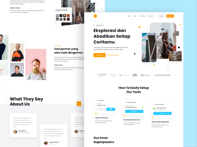 Poly - Photography Landing Page app web design landing page user experience user interface clean design ux ui