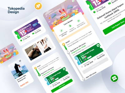 Tokopedia - Referral Influencer product design promo clean app illustration mobile user experience user interface mobileapp design ux ui