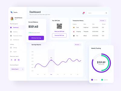 Dooits - Money Manager Dashboard dashboard app dashboard design dashboard ui web design money app dashboard app user experience user interface clean design ux ui