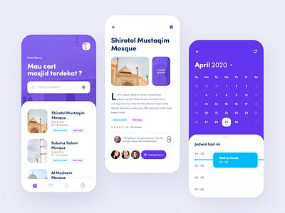 Mooshalaa - Special Moslem App ramadan kareem purple mobile app user experience user interface mobileapp clean design ux ui