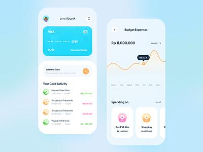 Omnibank - Finance App Exploration banking app finance app mobile app iphonex user experience user interface mobileapp clean design ux ui