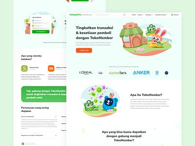 TokoMember Pusat Edukasi Seller ecommerce web design webdesign landing design landingpage illustration user experience user interface clean design ux ui