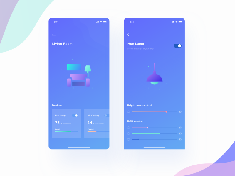Smart Home Exploration iphonex design ux ui