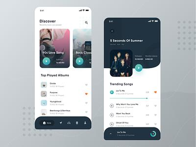 Music App podcast music app app design mobileapp design ux ui