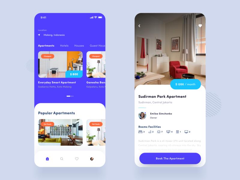 Bubhuk - Real Estate Finder App hotel app real estate apartment design realestate apartment purple mobileapp iphonex clean design ux ui