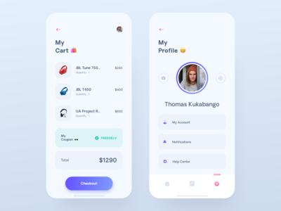 Cart & Account - Shopping App