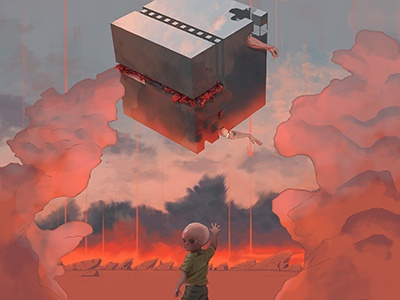 PREDOMINANT_PSYCHOKINESIS artwork illustration surreal fantasy sci-fi science-fiction