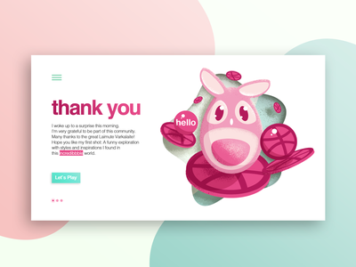 Hello Dribbble texture coloful website flat vector ux ui pinks shadows colors web design illustration