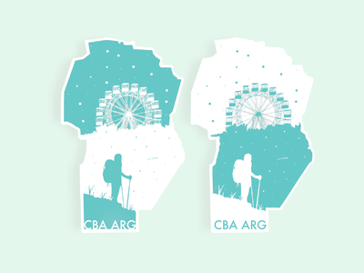 Hometown Stickers. Córdoba, Argentina. illustration design learn play practice warm-up weekly stickers sticker argentina cordoba